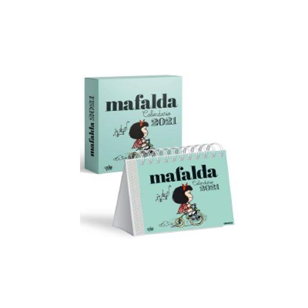 Mafalda 2021, Calendario Caja - Celeste
